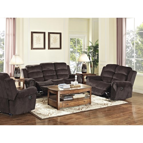 New Classic Merritt Reclining Living Room Group