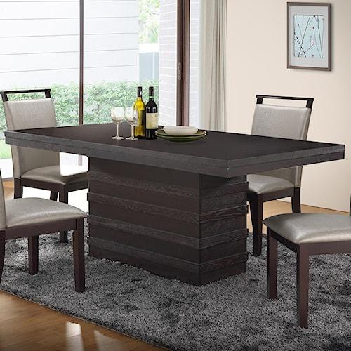 New Classic Natasha Boris Dining Table with Pedestal Base