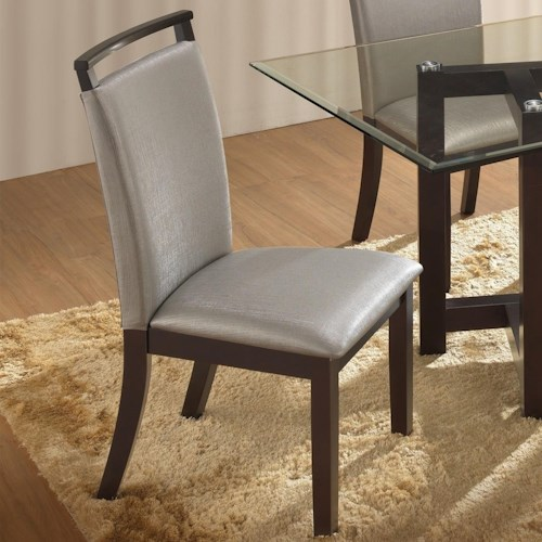 New Classic Natasha Boris Side Chair with Exposed Wood Seat Back Top