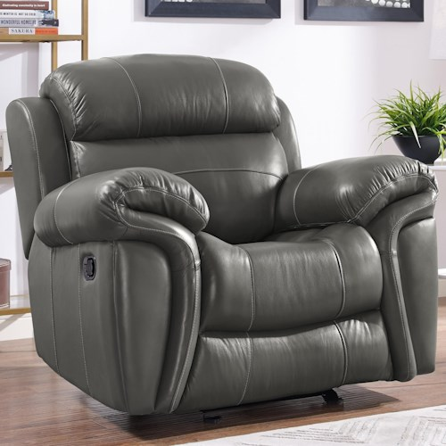 New Classic Paloma Casual Power Glider Recliner with Pillow Arms