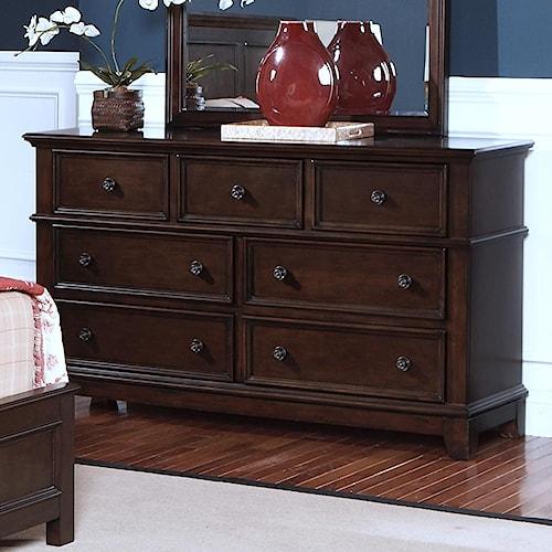 New Classic Prescott Drawer Dresser w/ Felt Lined Top Drawers