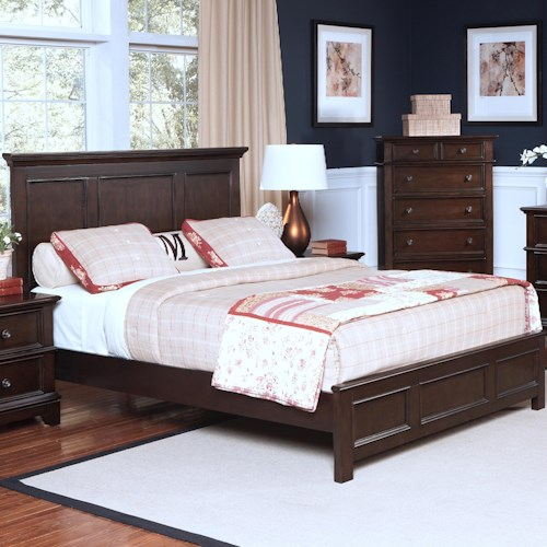 New Classic Prescott California King Headboard and Footboard Bed