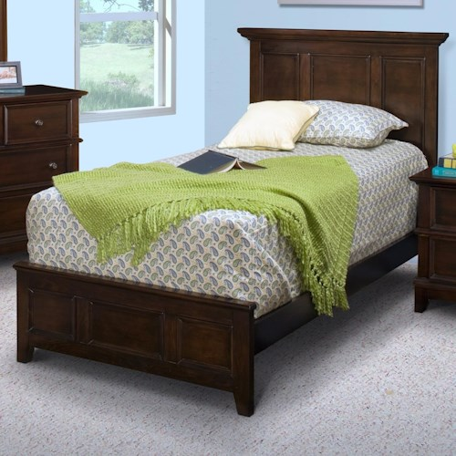 New Classic Prescott Full Panel Bed with Low Footboard