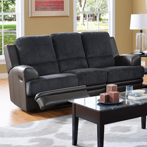 New Classic Rico Casual Reclining Sofa with Flared Arms