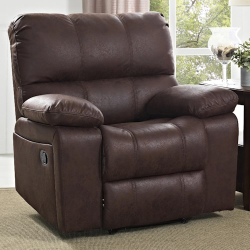 New Classic Riley Casual Glider Recliner with Pillow Arms