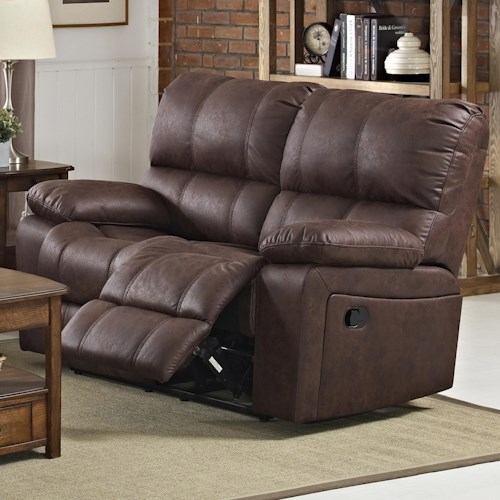 New Classic Riley Casual Power Loveseat with Pillow Arms