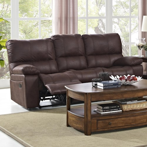 New Classic Riley Casual Power Sofa with Split Back Cushions
