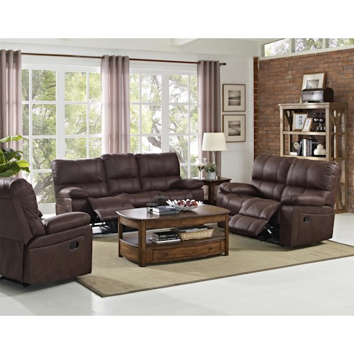 New Classic Riley Power Reclining Living Room Group