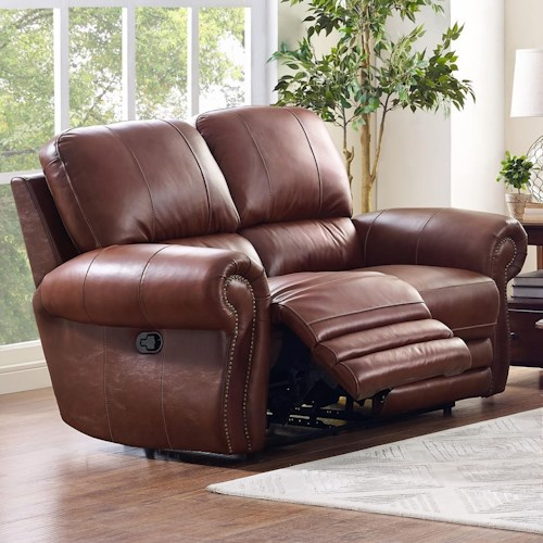 New Classic Rossi Traditional Power Loveseat with Rolled Arms