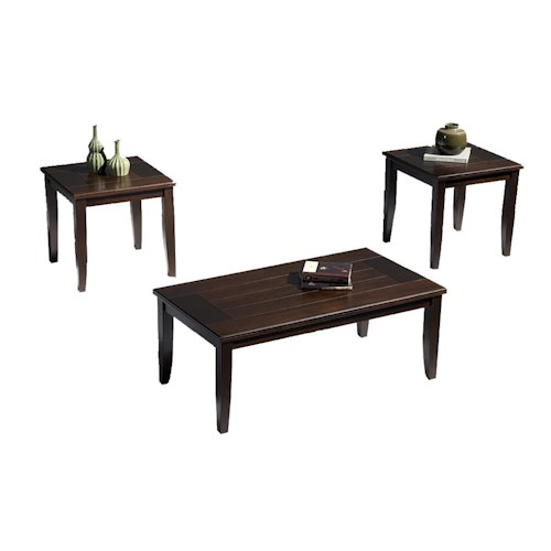 New Classic Sanibel  Occasional Table 3 Pack with Cocktail Table and Two End Tables