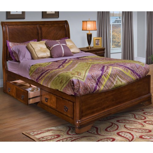 New Classic Sheridan Queen Storage Bed w/ Headboard