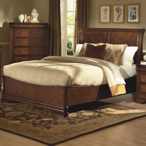 New Classic Sheridan King Bed w/ Sleigh Headboard