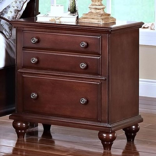 New Classic Spring Creek  Two Drawer Nightstand with Turned Feet