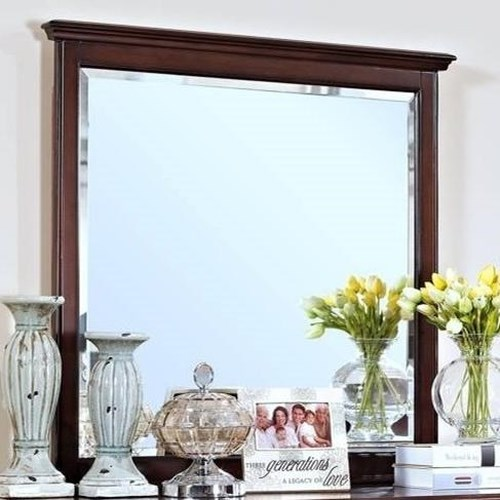 New Classic Spring Creek Dresser Mirror with Moulded Top Edge
