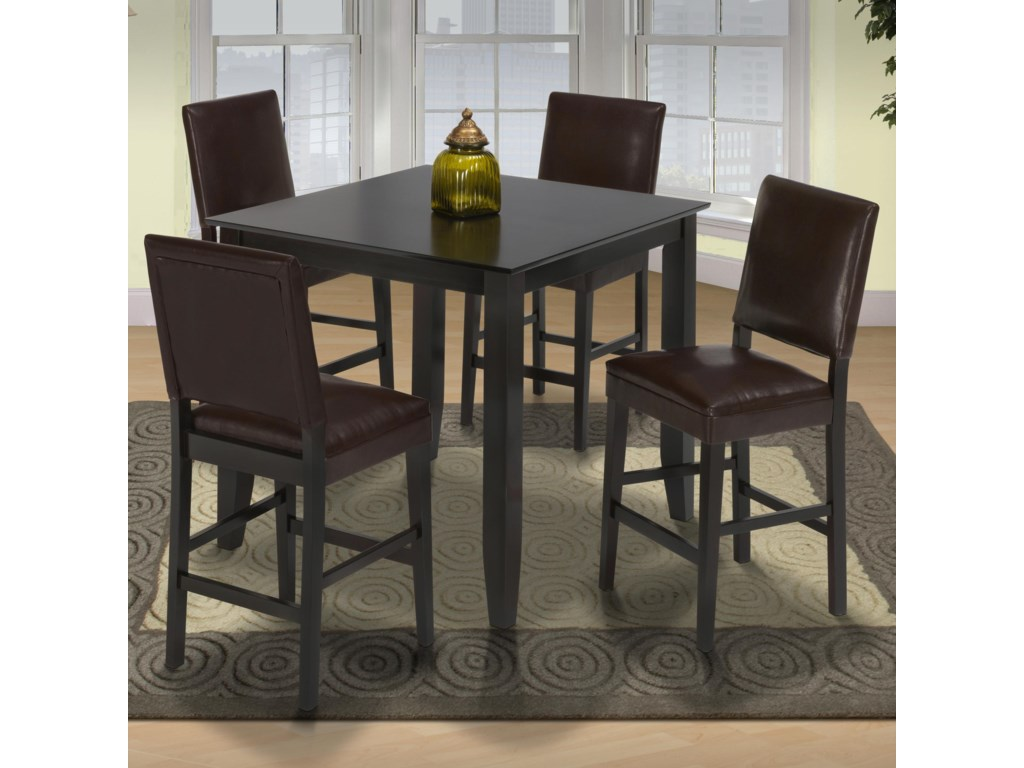 Shown with Chocolate Upholstered Counter Height Chairs