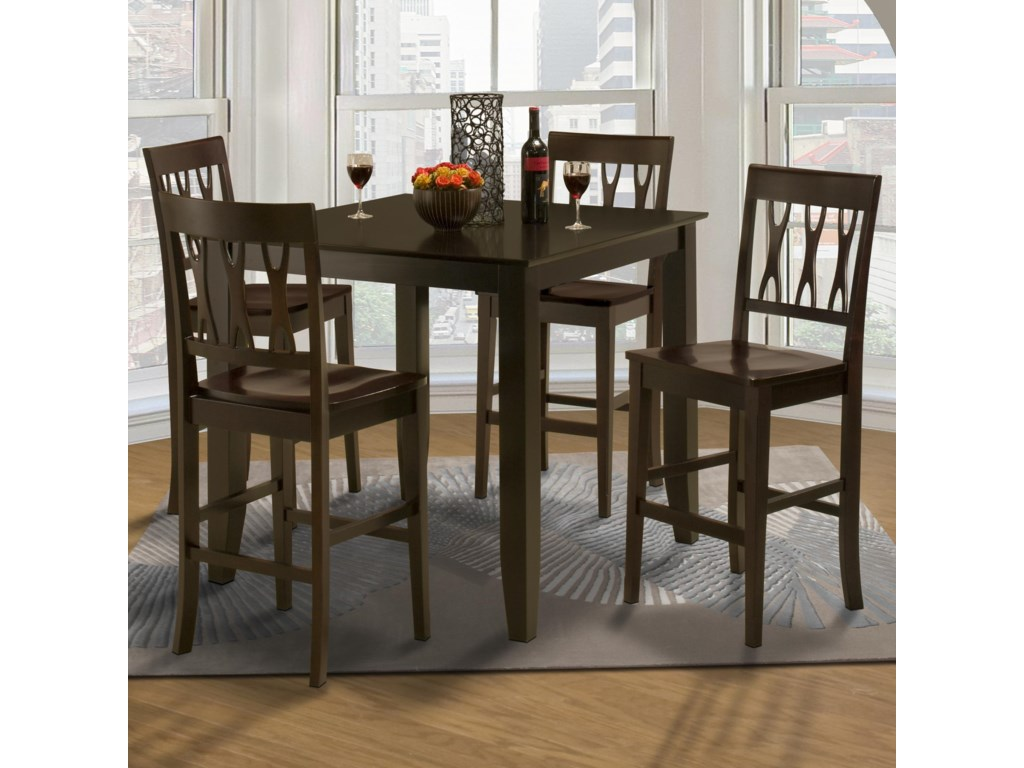 Shown with Counter Height All Wood Abbie Chairs