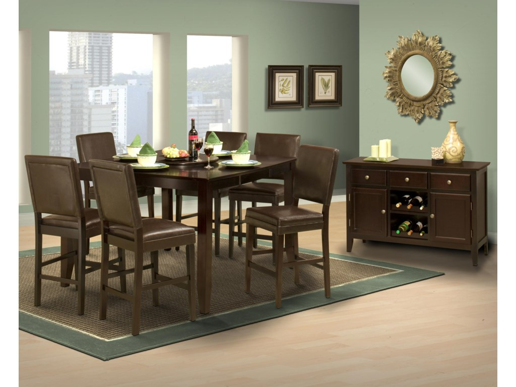 Shown with Counter Height Dining Table and Casual Dining Room Server