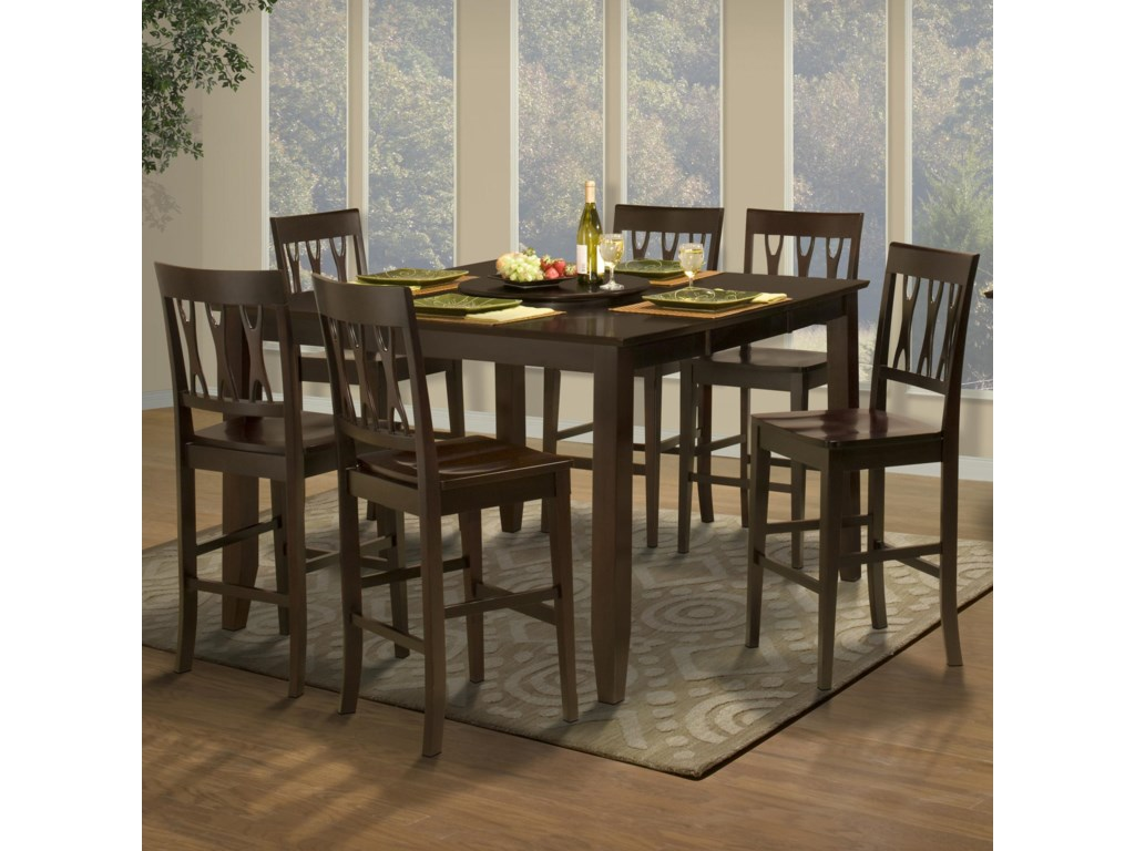 Shown with Abbie All Wood Counter Height Chairs
