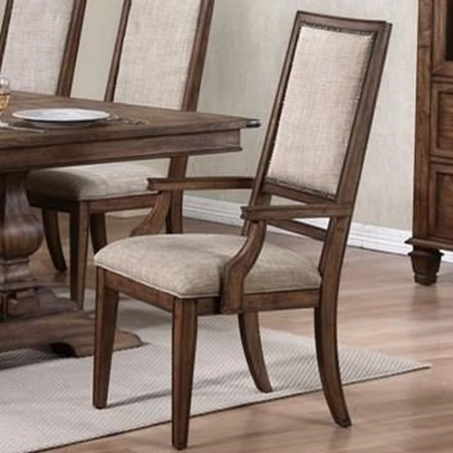 New Classic Sutton Manor Arm Chair with Upholstered Back and Seat Cushion