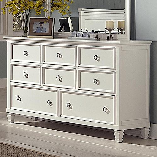 New Classic Tamarack Eight-Drawer Dresser