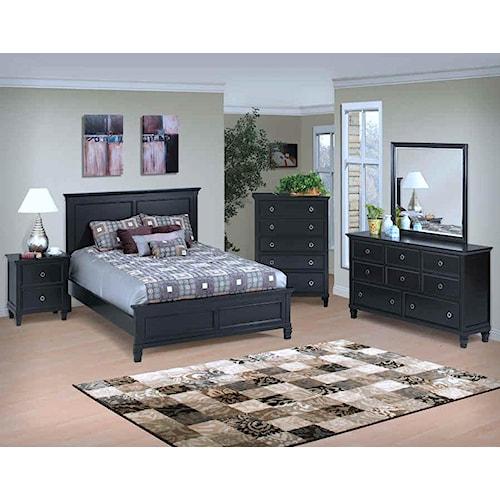 New Classic Tamarack Cal King Bedroom Group
