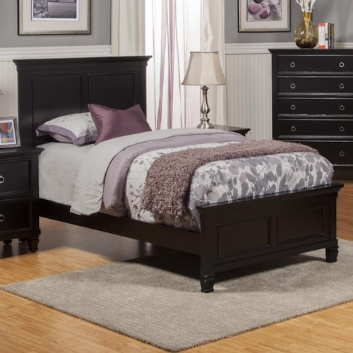 New Classic Tamarack Full Panel Headboard and Footboard Bed