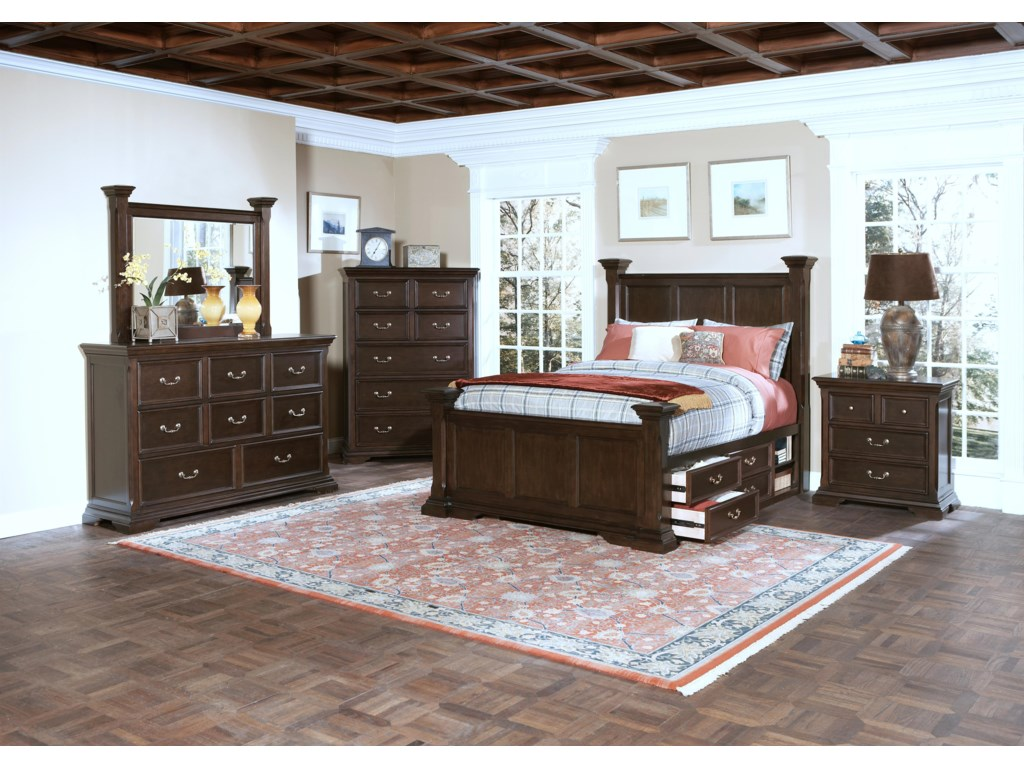 Shown with Mirror, Chest, Bed, and Nightstand