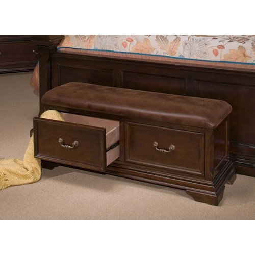 New Classic Timber City Storage Bench with 2 Drawers