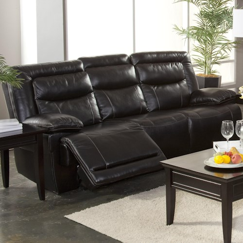 New Classic Torino Casual Dual Recliner Sofa with Hideaway Tray
