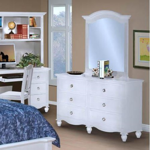New Classic Victoria Youth Drawer Dresser and Mirror Combination
