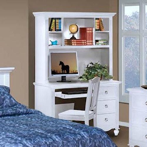 New Classic Victoria Drawer Desk And Shelf Hutch Combination