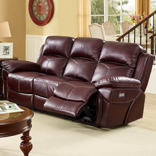 New Classic Warner Casual Power Reclining Sofa With Pillow