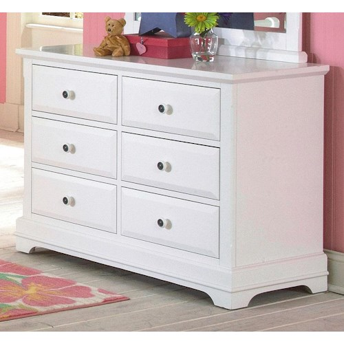 New Classic Bayfront Six Drawer Dresser