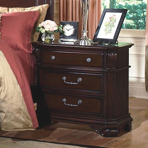 New Classic Emilie Three-Drawer Nightstand