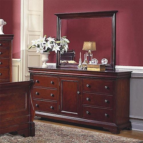 New Classic Versaille Dresser & Mirror Combo