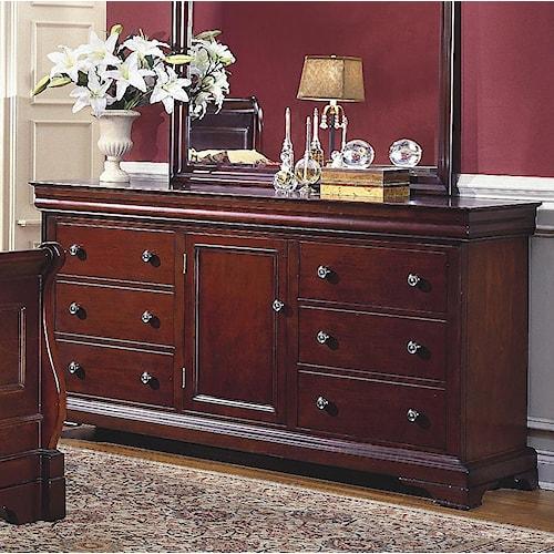 New Classic Versaille 6 Drawer, 1 Door Dresser