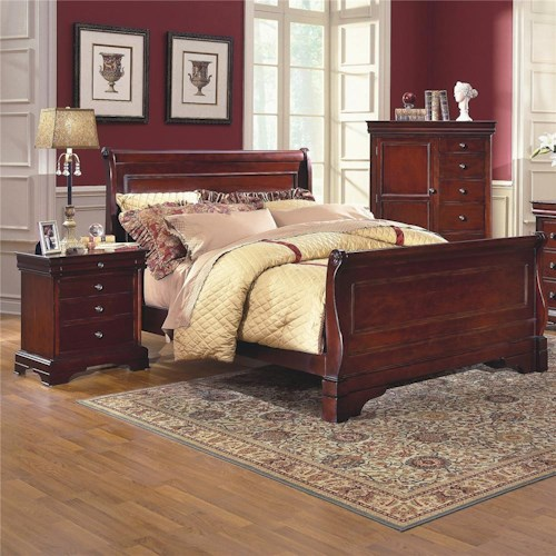New Classic Versaille Queen Sleigh Bed