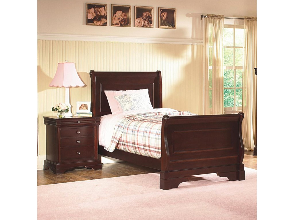 Shown with Night Stand.  Bed Shown May Not Represent Size Indicated