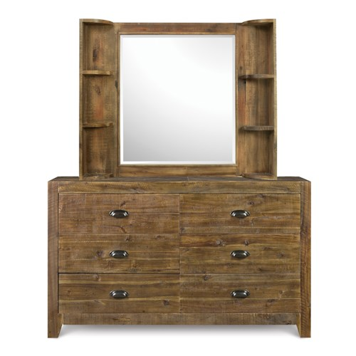 Next Generation by Magnussen Braxton Casual Rustic Dresser and Vanity Mirror