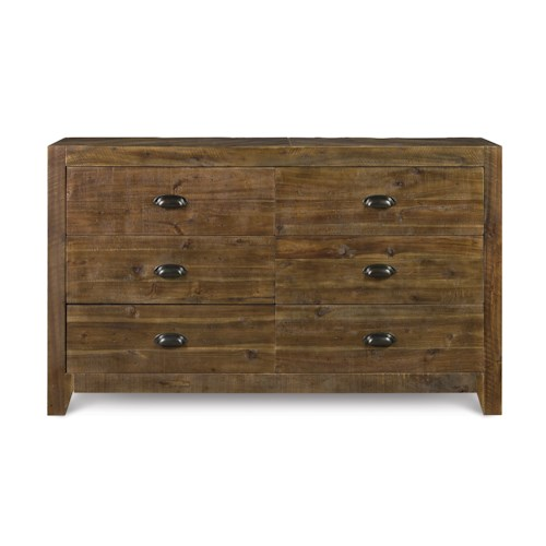 Next Generation by Magnussen Braxton Casual Rustic Six Drawer Dresser