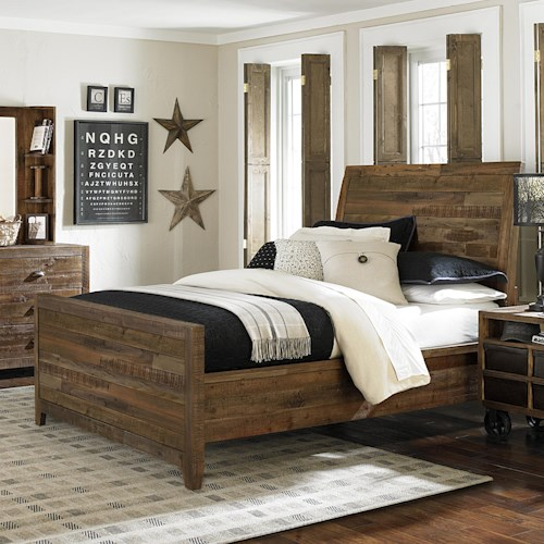 Next Generation by Magnussen Braxton Twin Rustic Panel Bed