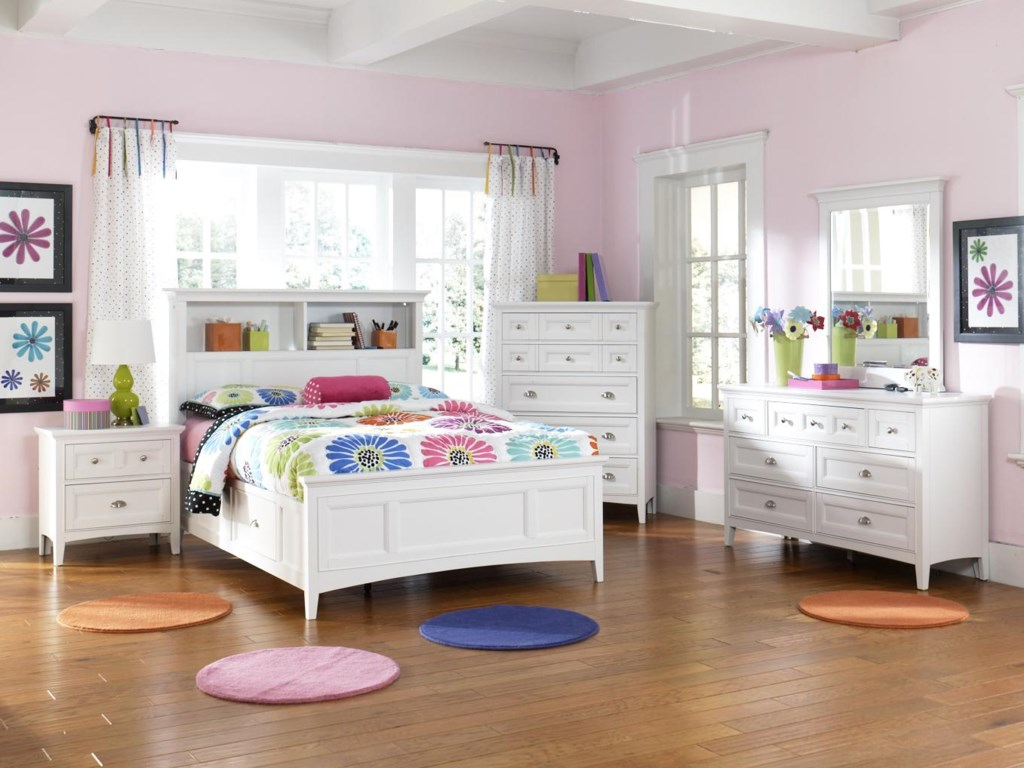 Next Mirrored Bedroom Furniture Hayden White Two Drawer Nightstand With Touch Lighting And