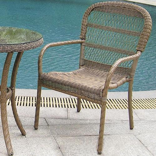 NorthCape International Avalon Wicker Bistro Arm Chair