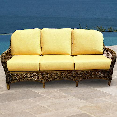 NorthCape International Berkshire Three Seater Wicker Sofa