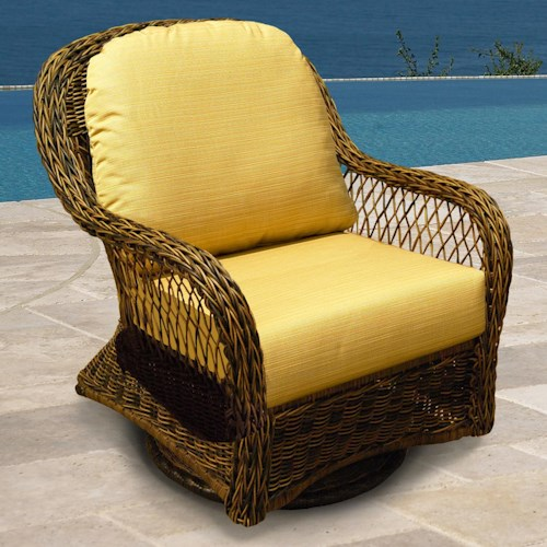 NorthCape International Berkshire Wicker Swivel Glider Chair