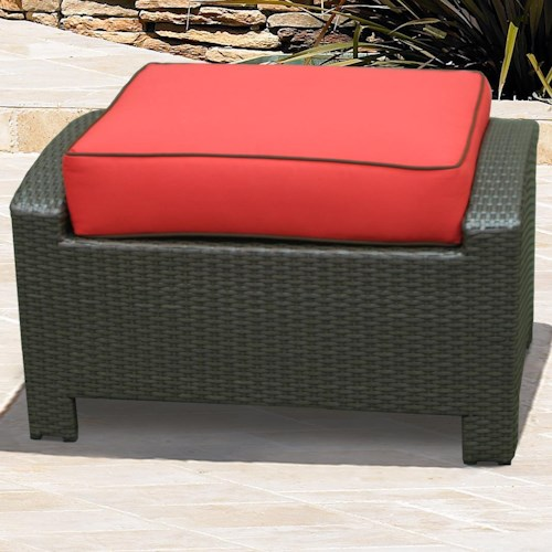NorthCape International Cabo Rectangle Ottoman with Arms w/ Cushion