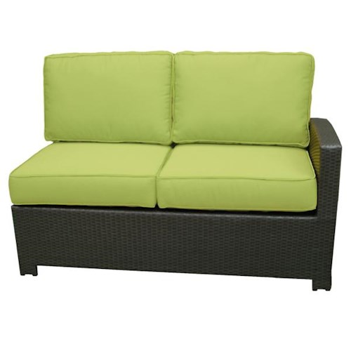 NorthCape International Cabo Right Side Facing Loveseat Section w/ Cushion
