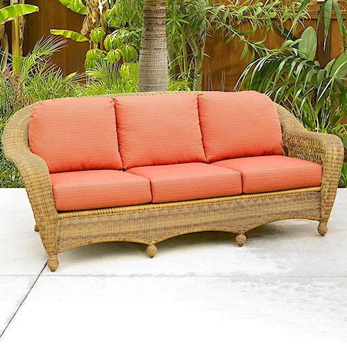 NorthCape International Charleston Wicker Sofa