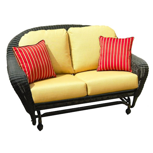NorthCape International Charleston Double Wicker Glider