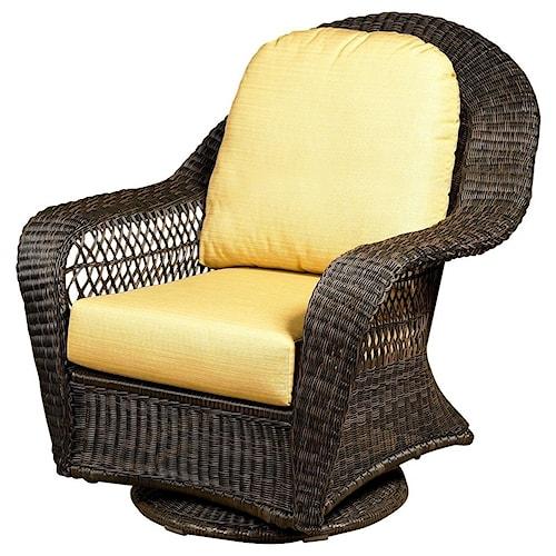 NorthCape International Charleston High Back Swivel Glider Club Chair